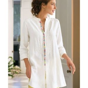 Soft surroundings white desert tunic